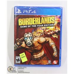 NEW BORDERLANDS GAME OF THE YEAR EDITION FOR PS4