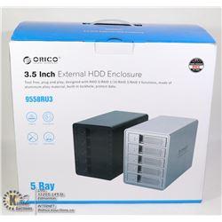 "ORICO 5 BAY 3.5"" EXTERNAL HDD ENCLOSURE"