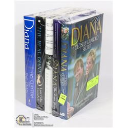 PRINCESS DIANA ASSORTED HARDCOVER BOOKS- SET OF 5