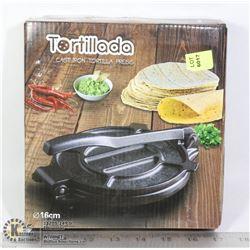 TORTILLADA CAST IRON TORTILLA PRESS