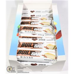 BOX OF BUILT BAR ENERGY/ PROTEIN BARS