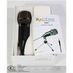 FIFINE MICROPHONE WITH USERS GUIDE