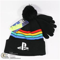 NEW PLAYSTATION KIDS TOQUE AND GLOVES SET