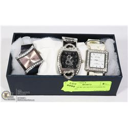 SET OF 3 NEW QUALITY FASHION WATCHES