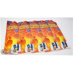 5 PACKS OF SELF HEATING INSOLE FOOT WARMERS