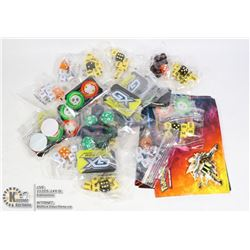COLLECTORS LOT POKEMON DICE, COINS, STICKERS