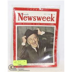 CANADA NEWSWEEK JUNE 11/1946JIMMY DURANTE 15 CENT