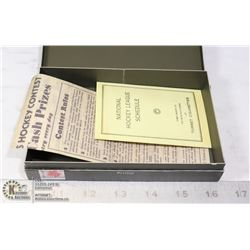 1933-34 TURRET CIGARETTE NHL HOCKEY CARD LEAFLET&