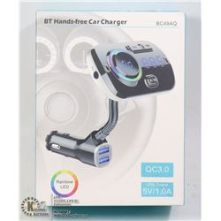 RAINBOW LED BT HANDS FREE CAR CHARGER