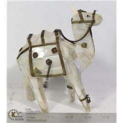 LLAMA MADE FROM MOTHER OF PEARL SHELL & BRASS