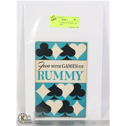 FUN WITH GAMES OF RUMMY 1950 VINTAGE BOOK