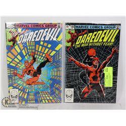 DARE DEVIL #186 & 188 1980?S COLLECTOR COMICS