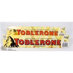 LOT OF TWO 750G OF TOBLERONE