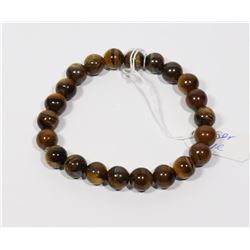 #172-NATURAL TIGER EYE BEAD BRACELET 8mm/7.5""