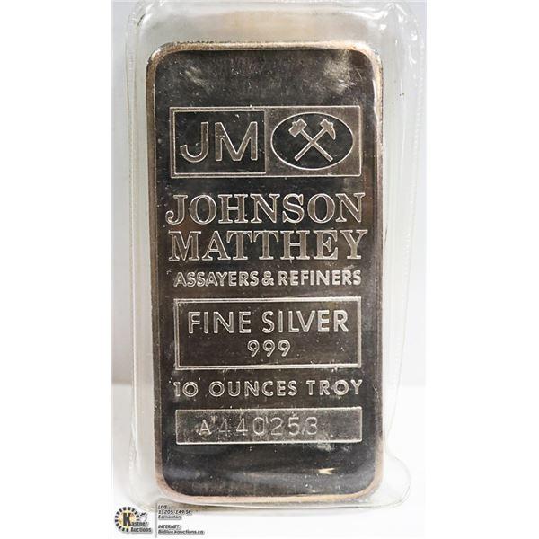 10 OZ SILVER BAR JOHNSON MATTHEY #44025