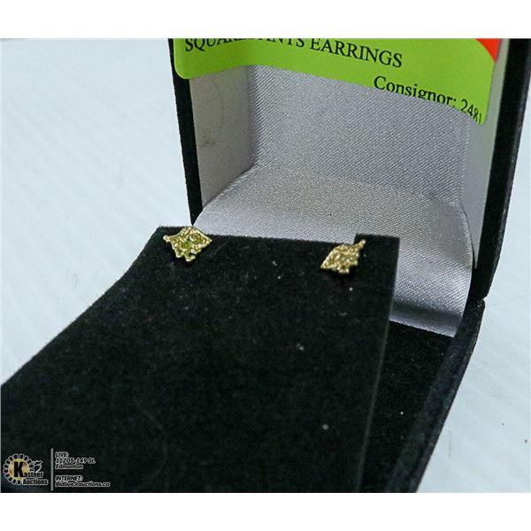 14K GOLD SPONGEBOB SQUAREPANTS EARRINGS