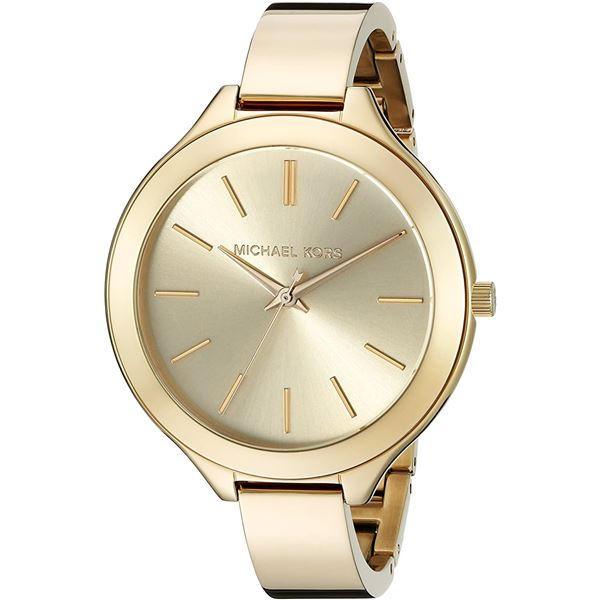 NEW MICHAEL KORS RUNWAY CHAMPAGNE DIAL MSRP $269