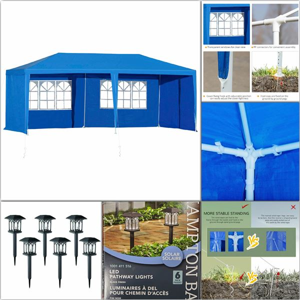 FEATURED EVENT TENTS AND SOLAR LIGHTS