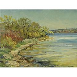Ernest Luthi - MAY ALONG NORTH SHORE OF MISSION LAKE