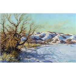 Ernest Luthi - WINTER AFTERNOON AT LEADER'S POINT, SOUTH SIDE