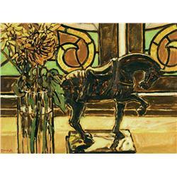 William (Bill) Duma - CHINESE HORSE & FLOWERS