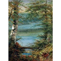 Marmaduke Matthews - UNTITLED (TREES AT THE WATER'S EDGE)