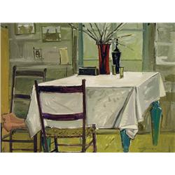 Lorne Holland Bouchard - KITCHEN TABLE (JEAN JUNEAU'S CABIN), ST. PLACIDE-PQ