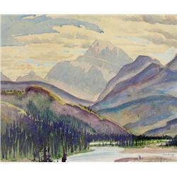Joseph Ernest Sampson - UNTITLED (RIVER THROUGH THE MOUNTAINS)
