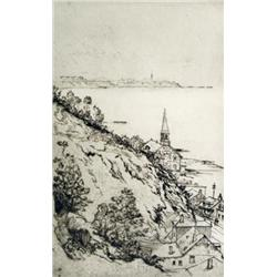 Robert Wakeham Pilot - UNTITLED (VIEW OF QUEBEC TOWN AND CHURCH)