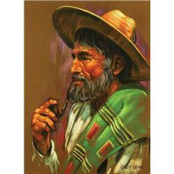 Harley W. Brown - PORTRAIT (MAN SMOKING A PIPE)