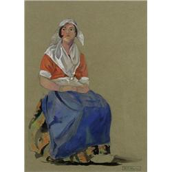William Percival Weston - UNTITLED (SEATED WOMAN)