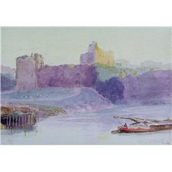 Frederic Marlett Bell-Smith - UNTITLED (CASTLE OVERLOOKING A RIVER)