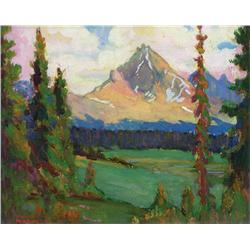 Thomas Wilberforce Mitchell - CLITHEROE MOUNTAIN, CANADIAN ROCKIES