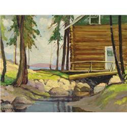 George Arthur Kulmala - UNTITLED (FISHING LODGE, MUSKOKA LAKE)