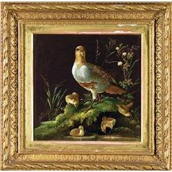Unidentified Artist - UNTITLED (PHEASANT WITH CHICKS)/ UNTITLED (PARTRIDGE WITH CHICKS)