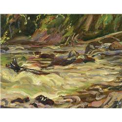 Alexander Young Jackson - RAPIDS ON MAGPIE RIVER (WAWA)