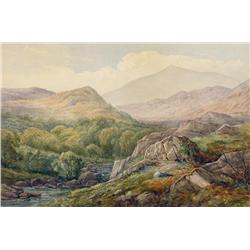 George Harlow White - LANDSCAPE WITH MOUNTAINS AND RIVER