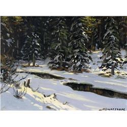Matt Lindstrom - UNTITLED (FOREST STREAM IN WINTER)