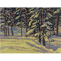 William (Bill) Duma - SNOW LADENED TREES