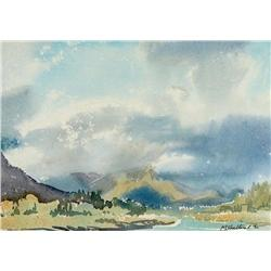 Margaret Dorothy Shelton - UNTITLED (RIVER VALLEY WITH DISTANT MOUNTAINS)