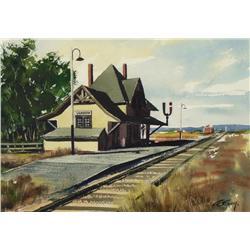 Arthur Evoy - C.N.R. STATION, VANSCOY, SASK.