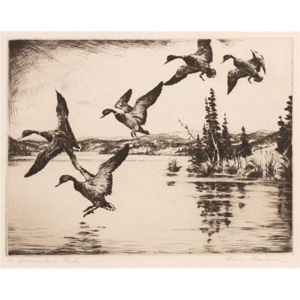 Hans Kleiber, etching