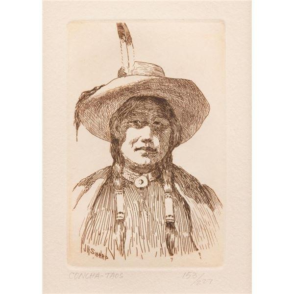 Joseph Henry Sharp, etching