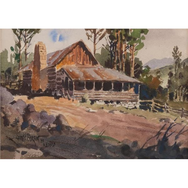 James E. Boren, watercolor