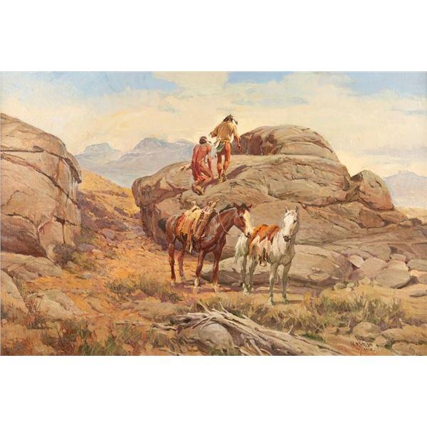 Newman Myrah, oil on canvas