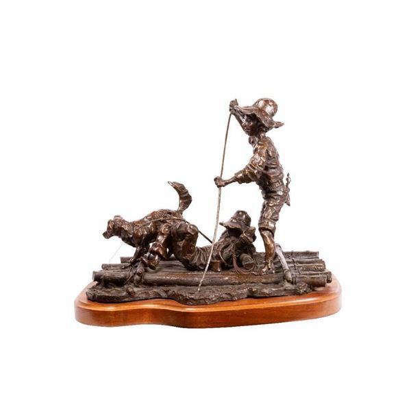 Gary Schildt, Huck Finn Series, set of 8 bronzes