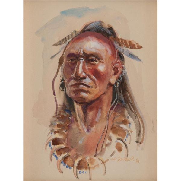 Joe Beeler, watercolor