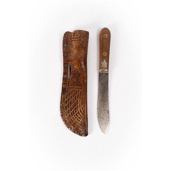 """Northern Plains Knife and Knife Sheath, 10.25"""""""