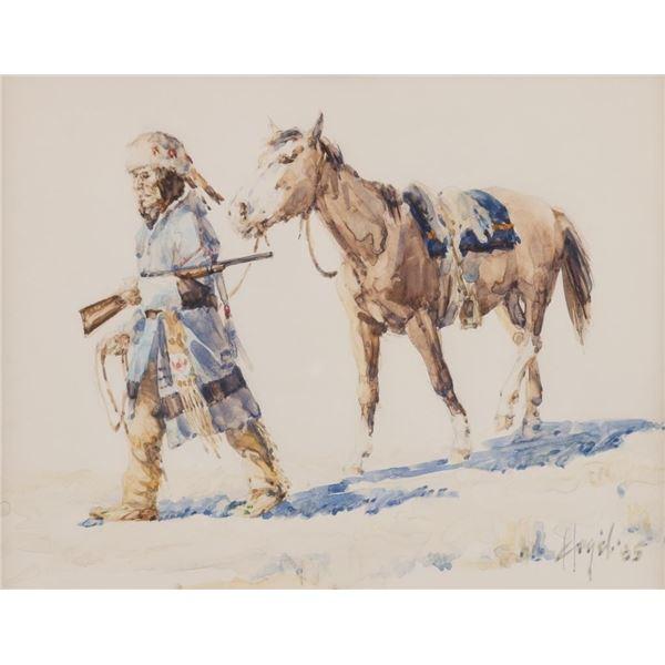 Frank Hagel, two watercolors