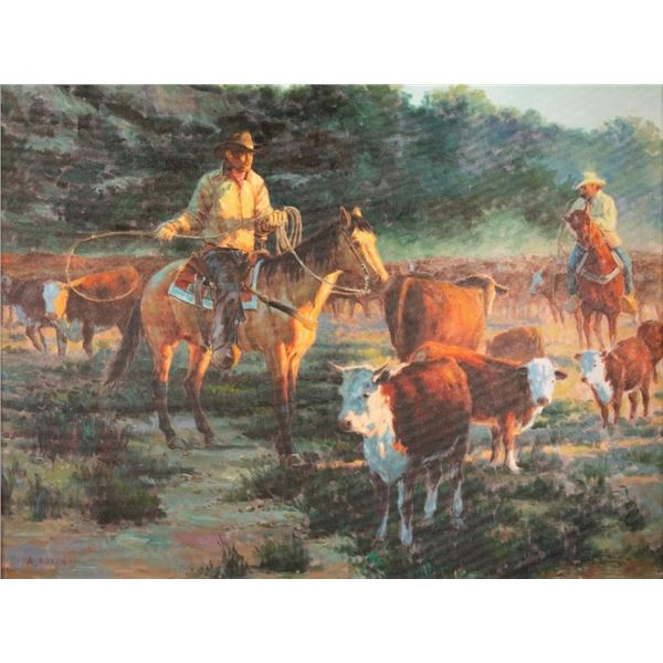 A. Boren, oil on canvas